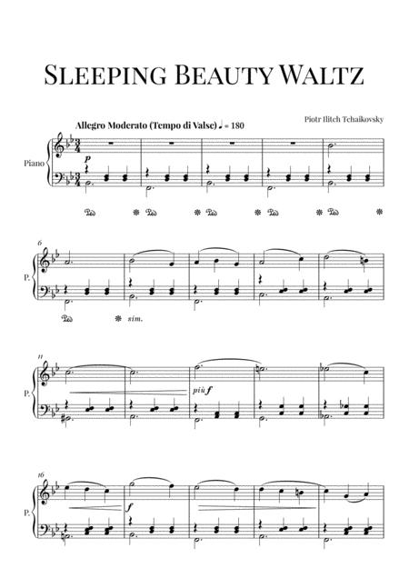 Tchaikovsky: Sleeping Beauty Waltz (Intermediate Piano)