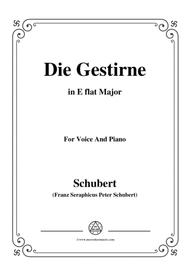 Schubert-Die Gestirne,in E flat Major,for Voice&Piano