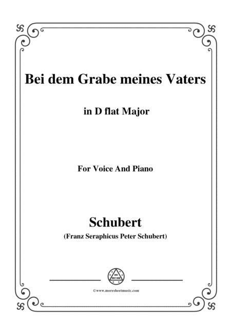 Schubert-Bei dem Grabe meines Vaters,D.469,in D flat Major,for Voice&Piano