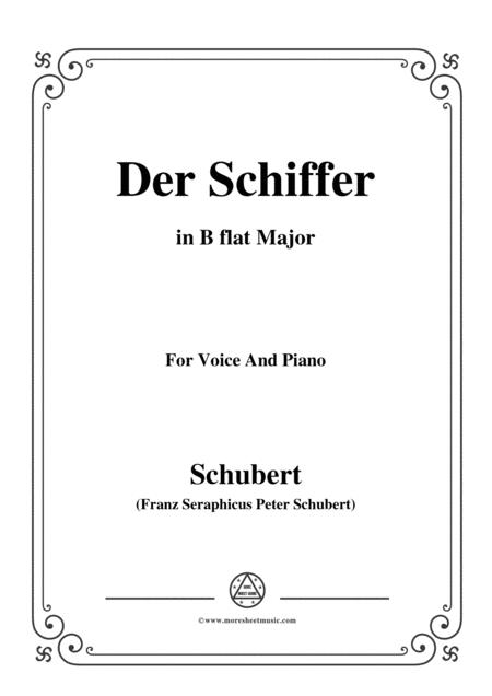 Schubert-Der Schiffer,in B flat Major,for Voice&Piano