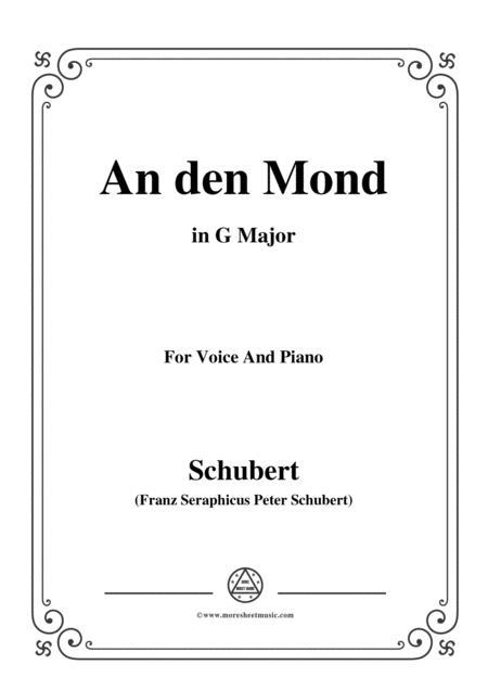 Schubert-An den Mond, D.296,in G Major,for Voice&Piano