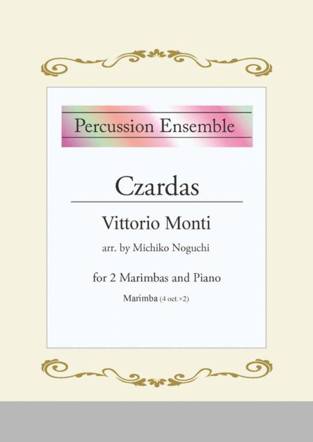 Czardas for Marimba duet and piano