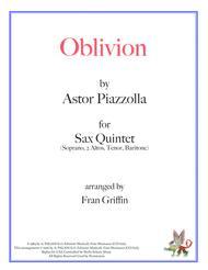 Oblivion for Saxophone Quintet