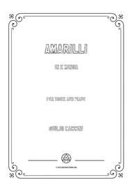 Caccini-Amarilli in e minor,for voice and piano