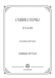 Cottrau-L'addio a Napoli in B Major,for voice and piano