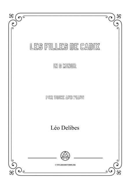 Delibes-Les filles de Cadix in g minor,for voice and piano