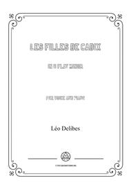 Delibes-Les filles de Cadix in b flat minor,for voice and piano
