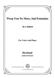 Dowland-Weep You No More, Sad Fountains in e minor, for Voice and Piano