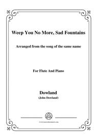 Dowland-Weep You No More, Sad Fountains,for Flute and Piano