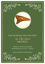 As The Deer - Ocarina Duet or Solo