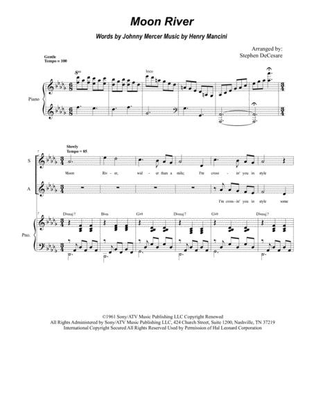 Moon River (for SATB)