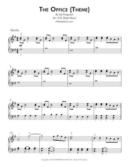 the office sheet music