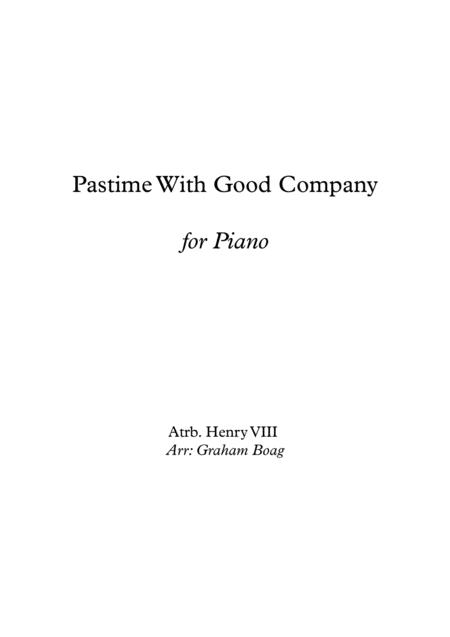Pastime With Good Company for Piano