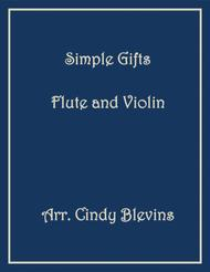 Simple Gifts, Flute and Violin