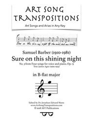Sure on this shining night, Op. 13 no. 3 (B-flat major)