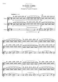<Flute Trio> In Dulci Jubilo