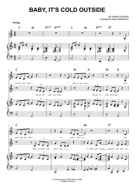 Download Baby Its Cold Outside Sheet Music By Glee Cast