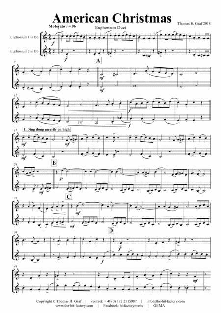 American Christmas - Mash up Rondo of best Christmas Songs - Euphonium Duet