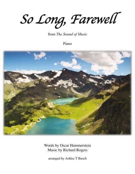So Long, Farewell for Piano
