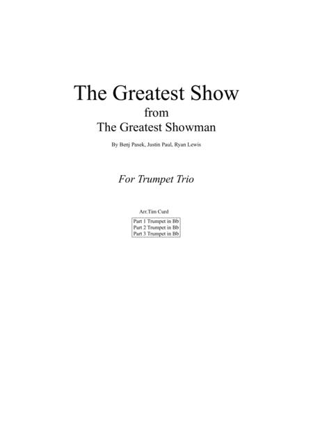 The Greatest Show. For Trumpet Trio
