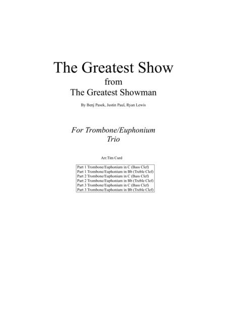 The Greatest Show. For Trombone Trio