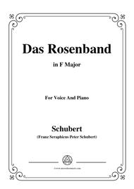 Schubert-Das Rosenband(The Rosy Ribbon),D.280,in F Major,for Voice&Piano