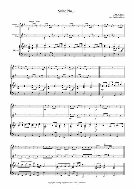 Suite No. 1  for 2 Trumpets and Organ