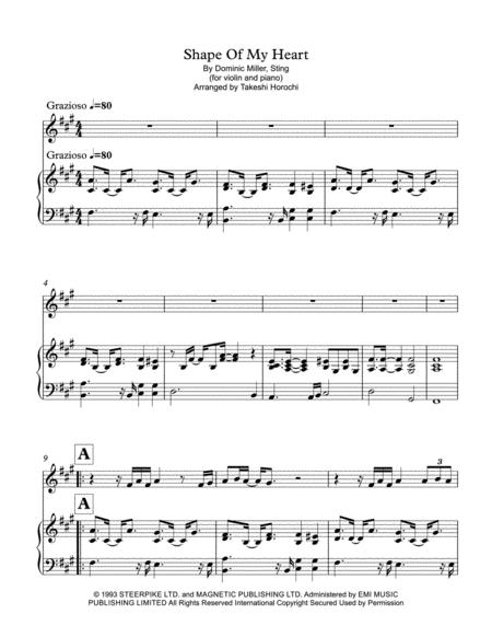 Shape Of My Heart - violin & piano