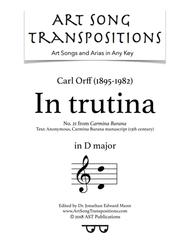 Carmina Burana: In trutina (D major)