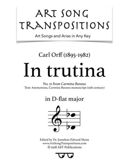 Carmina Burana: In trutina (D-flat major)