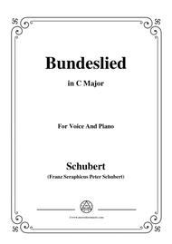 Schubert-Bundeslied,in C Major,for Voice&Piano