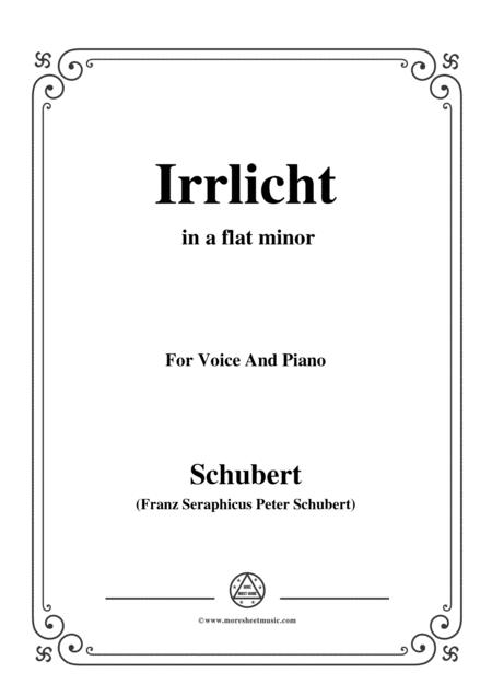 Schubert-Irrlicht,from 'Winterreise',Op.89(D.911) No.9,in a flat minor,for Voice&Piano