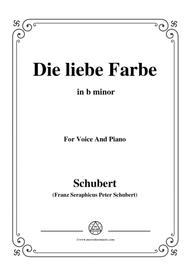 Schubert-Die liebe Farbe,from 'Die Schöne Müllerin',Op.25 No.16,in b minor,for Voice&Piano