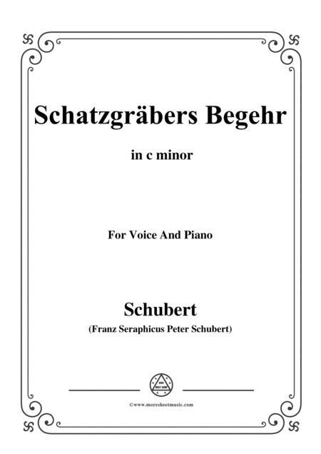 Schubert-Schatzgräbers Begehr,Op.23 No.4,in c minor,for Voice&Piano