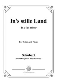 Schubert-In's stille Land,in a flat minor,for Voice&Piano