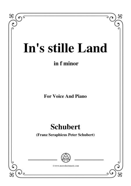 Schubert-In's stille Land,in f minor,for Voice&Piano