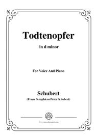 Schubert-Todtenopfer,in d minor,for Voice&Piano