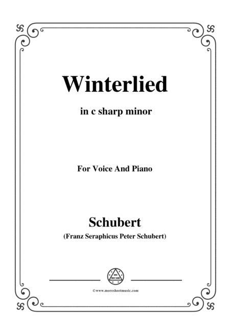 Schubert-Winterlied,in c sharp minor,for Voice&Piano