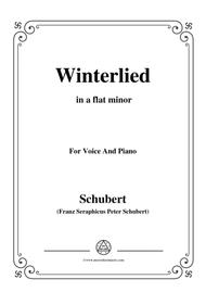 Schubert-Winterlied,in a flat minor,for Voice&Piano