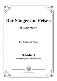 Schubert-Der Sänger am Felsen,in A flat Major,for Voice&Piano