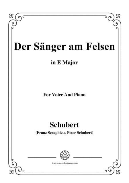Schubert-Der Sänger am Felsen,in E Major,for Voice&Piano