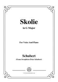 Schubert-Skolie(Skolion;Drinking Song),D.507,in G Major,for Voice&Piano