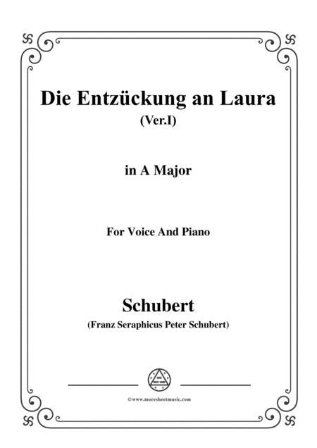 Schubert-Die Entzückung an Laura(Version I),D.577,in A Major,for Voice&Piano