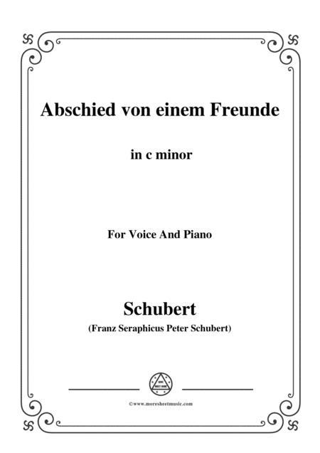 Schubert-Abschied von einem Freunde,in c minor,for Voice&Piano