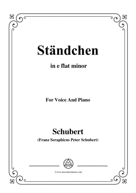 Schubert-Ständchen,in e flat minor,for Voice&Piano