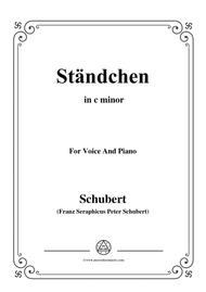 Schubert-Ständchen,in c minor,for Voice&Piano