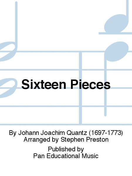 Sixteen Pieces Flute Solo Johann Joachim Quantz Ed Stephen Preston  PEM32