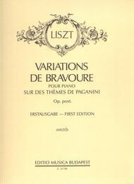 Variations de bravoure op. Post. Sur des themes d