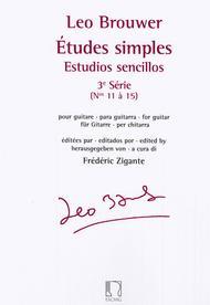 Leo Brouwer Guitar Book Only Études simples Estudios sencillos Série 3