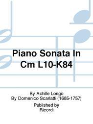 Piano Sonata In Cm L10-K84
